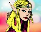 Dibujo Princesa elfo pintado por sheyla13