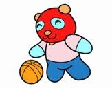 Panda con pelota