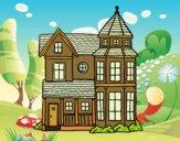 Dibujo Casa señorial clásica pintado por wuilde