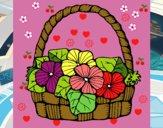 Cesta de flores 6