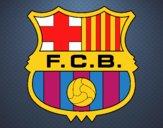 Dibujo Escudo del F.C. Barcelona pintado por wuilde
