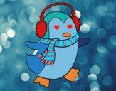 Dibujo Pingüino con bufanda pintado por antoamo