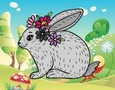 Dibujo Conejo primaveral pintado por Picasa