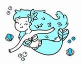 Dibujo Una sirena feliz pintado por Alexaaaa
