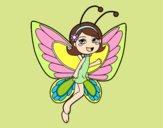 Hada mariposa contenta