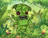 Dibujo Monstruo fauno pintado por sandialaga