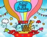 Dibujo Tarjeta de Feliz Cumpleaños pintado por Atoz