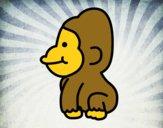 Dibujo Gorila bebé pintado por Sosa2005