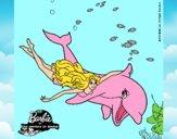 Barbie y delfín