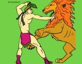 Gladiador contra león