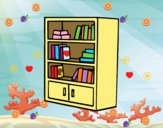 Librería con cajones