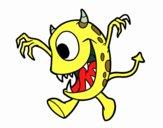 Dibujo Monstruo con un ojo pintado por juandavid6