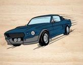Dibujo Mustang retro pintado por RODAS38