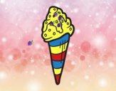 Cucurucho helado con topping