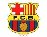 Dibujo Escudo del F.C. Barcelona pintado por Socovos