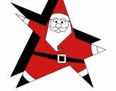 Papa Noel en forma de estrella