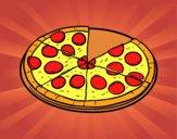 Dibujo Pizza italiana pintado por Tenoch911