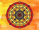 Dibujo Mandala sistema solar pintado por alinita