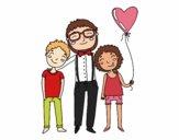 Dibujo Padre e hijos pintado por AgusNet