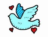 Dibujo Paloma del amor pintado por Isatou