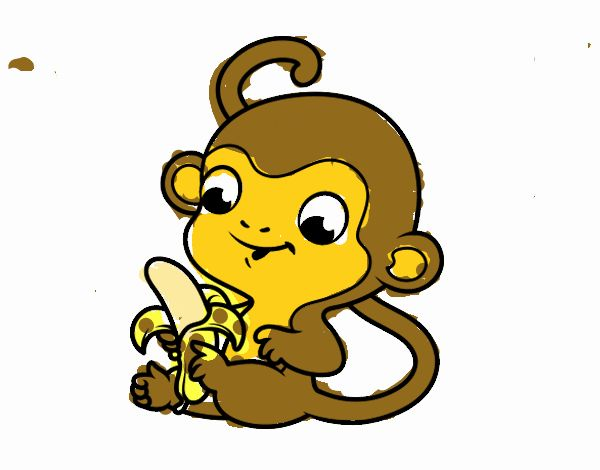 Monitos Para Colorear: Dibujos De Monos Para Colorear