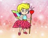 Dibujo Hada princesa de corazones pintado por sonia44