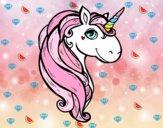 Dibujo Un unicornio pintado por juye