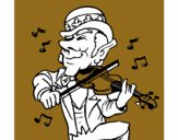 Duende tocando el violín