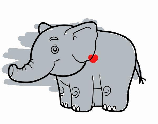 Dibujo Elefante Para Colorear E Imprimir: Dibujos De Elefantes Para Colorear