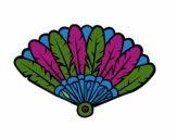 Abanico de plumas
