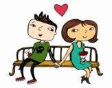 Adolescentes enamorados