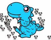 Estegosaurio de perfil