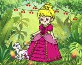 Princesa con perrito