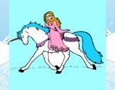 Princesa en unicornio
