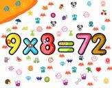 9 x 8