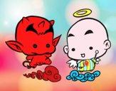 Dibujo Ángel o demonio pintado por andreina08