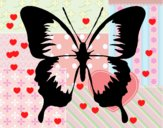 Mariposa con alas negras