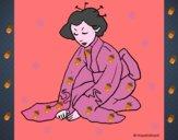 Geisha saludando