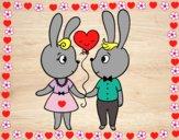 Conejos enamorados