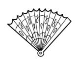 Dibujo de Abanico estampado para colorear