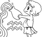 Dibujo de Acuario para colorear
