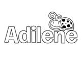 Dibujo de Adilene para colorear