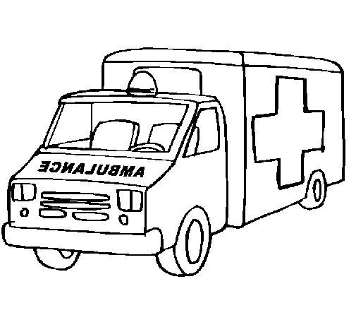 Dibujo de Ambulancia para Colorear