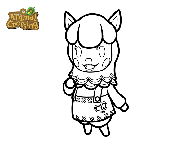 Dibujo de Animal Crossing: Paca para Colorear - Dibujos.net