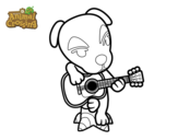 Dibujo de Animal Crossing: Totakeke para colorear