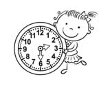 Dibujo de Aprender las horas para colorear