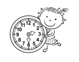 Dibujo de Aprender las horas