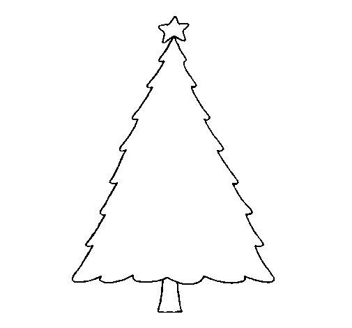dibujo de rbol con estrella para colorear - Dibujo Arbol De Navidad