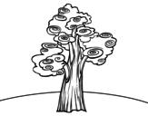 Dibujo de Árbol fantasía para colorear