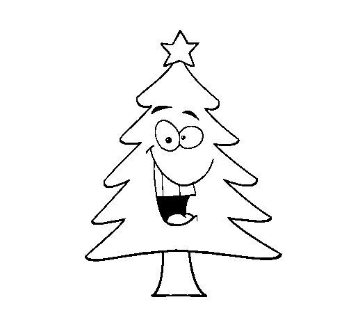 dibujo de rbol navidad para colorear